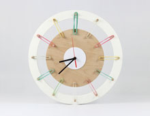 rubber band clock